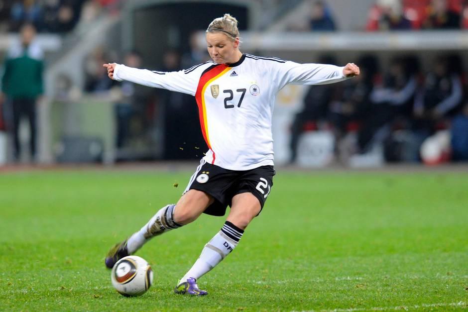 Alexandra Popp, Kapitänin der deutschen Fußballnationalmannschaft der Frauen.