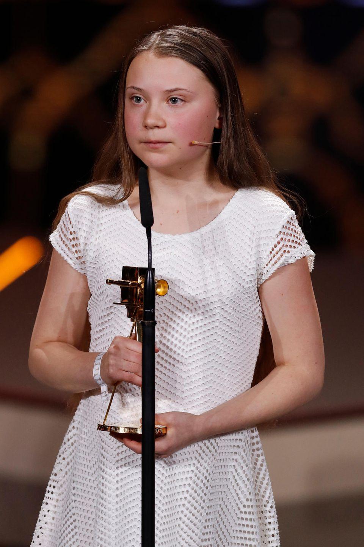 """Bei der """"Goldenen Kamera"""" war es die Rede von Greta Thunberg, die Andrea Gerhard den Impuls für ein umweltbewussteres Leben gegeben hat."""