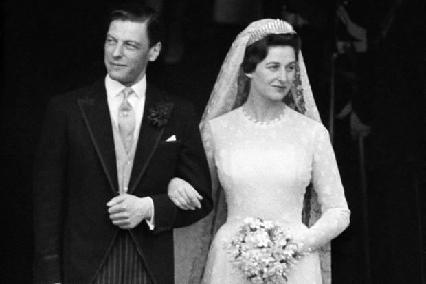 """Das """"Kent City of London Fringe Diadem"""" getragen von Prinzessin Alexandra im Jahr 1963"""
