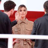 Hier muss jede Haarsträhne sitzen: Stefanie Giesinger ist bei den Filmfestspielen in Cannes mit L'Oréal unterwegs - als Markenbotschafterin muss sie da natürlich immer top gestylt sein.