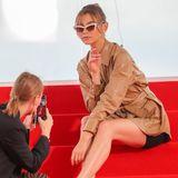 Model Stefanie Giesinger posiert bei einem Fotoshooting an der Croisette am Rande der 72. Internationalen Filmfestspiele von Cannes.