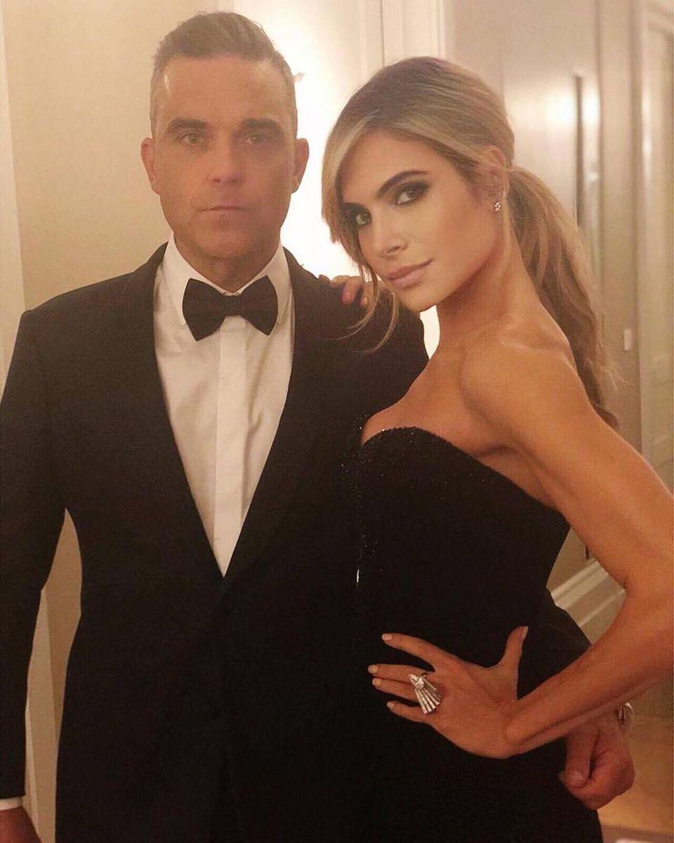"""17. Mai 2019  Mit diesem Bild gratuliert Robbie Williams auf Instagram seiner """"Traumfrau"""" Ayda Field zum 40. Geburtstag."""