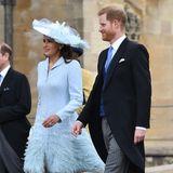 Lady Frederick Windsor Sophie Winkelman erscheint gemeinsam mit Prinz Harry zur Hochzeit vonLady Gabriella Windsor undTom Kingston