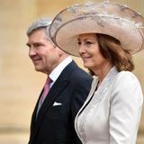 Auch Michael und Carole Middleton machen sich auf den Weg in die Kapelle.