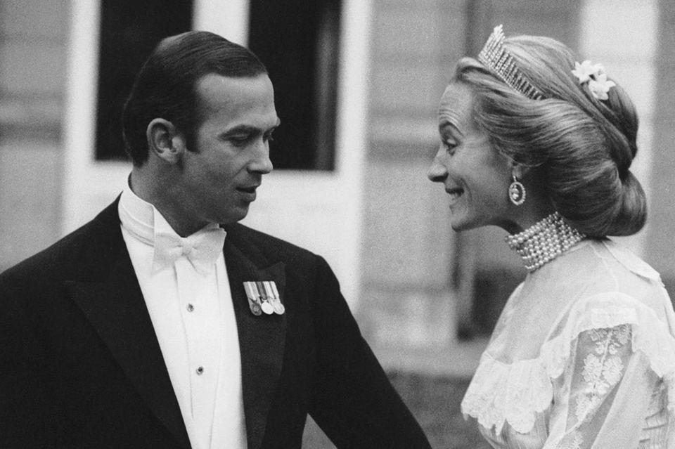 """Prinz Michael von Kent heiratet 1978 Marie Christine von Reibnitz, dann Prinzessin Michael von Kent. Auch die Mutter von Lady Gabriella Windsor trägt die """"Kent City of London Fringe tiara""""."""