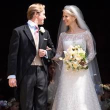 Auf diesem Foto ist der besondere Brautlook besonders gut zu erkennen.