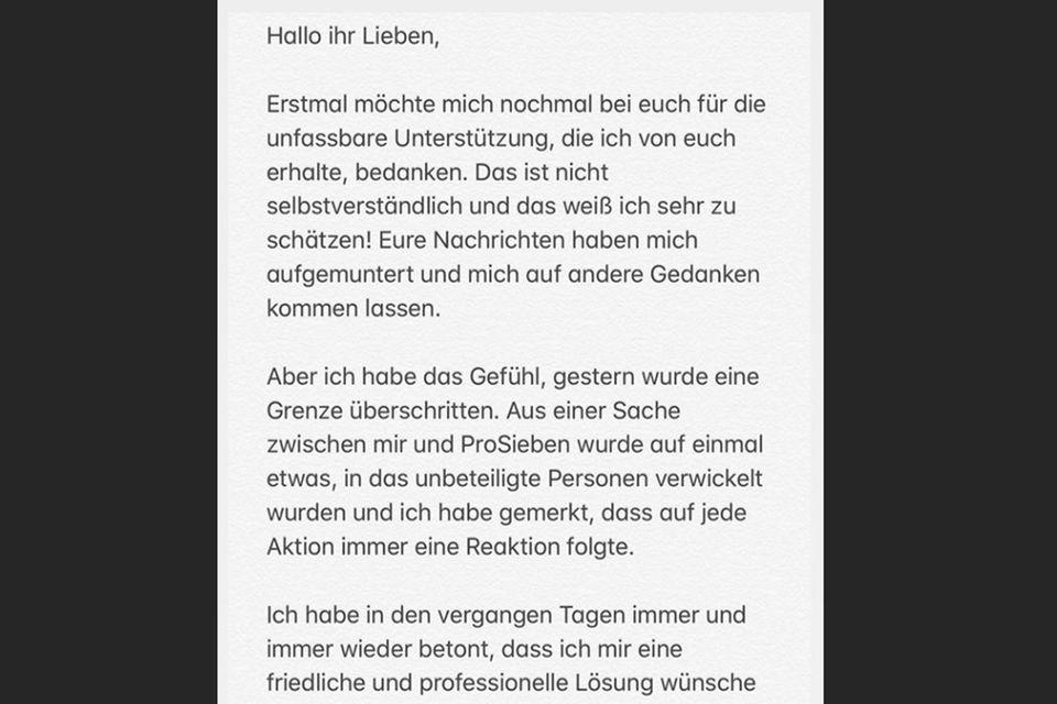 Auf Instagram meldet sich GNTM-Vanessa gegenüber ihrer Fans zu Wort
