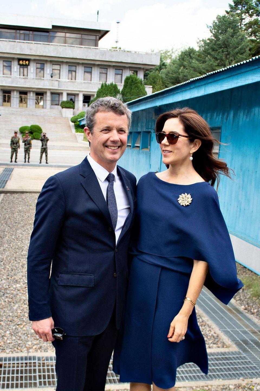 Im Rahmen ihrer Wirtschaftsreise besuchen Prinz Frederik und Prinzessin Mary auch die entmilitarisierteZone an der Grenze zwischen Nord- und Südkorea.