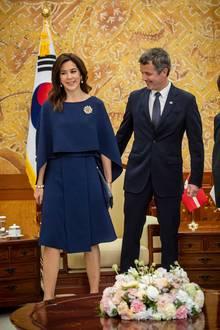 In Seoul steht für das dänische Kronprinzenpaar ein Treffen mit dem Koreas Präsidenten Moon Jae-in auf dem Programm.