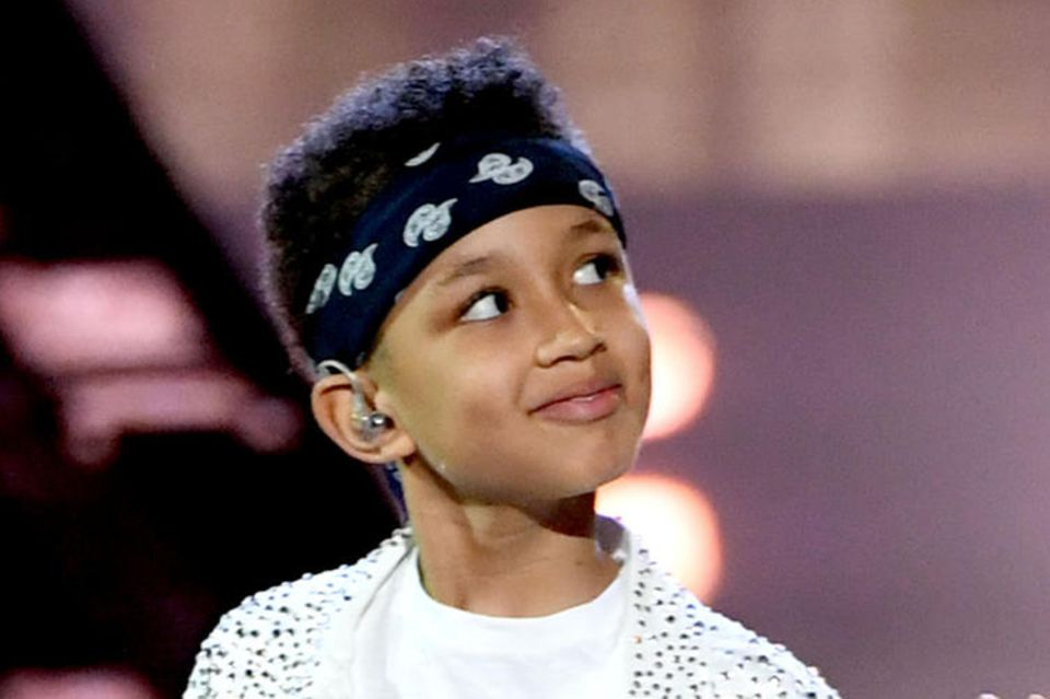 Alicia Keys achtjähriger Sohn Egypt hat für sein Alter schon einen sehr lässigen Style.