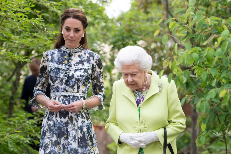 Herzogin Catherine und Queen Elizabeth