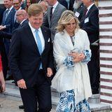 20. Mai 2019  Mit bester Laune machen sich Königin Máxima und König Willem-Alexander auf den Weg zumWirtschaftsdinner im Kurhaus Warnemünde.