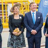 21. Mai 2019  Das Königspaar besichtigt die MV Werften in Rostock-Warnemünde, wo zurzeit eines der bislang größten Kreuzfahrtschiffe der Welt gebaut wird.