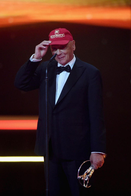 """2016 erhält Niki Lauda bei den """"Laureus World Sports Awards"""" den Preisfür sein Lebenswerk."""