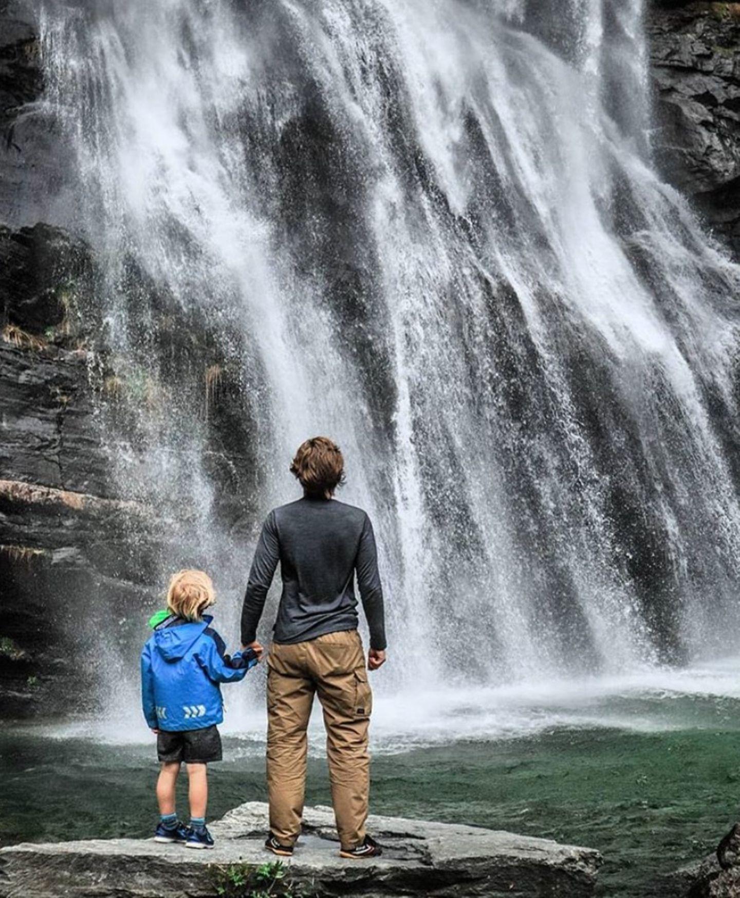 Alexander Milz mit Sohn Noah