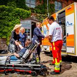 """21. Mai 2019  Königin Maxima und König Willem-Alexander besuchen dasKulturzentrum """"Die Scheune"""" in Bollewick,Mecklenburg-Vorpommern."""