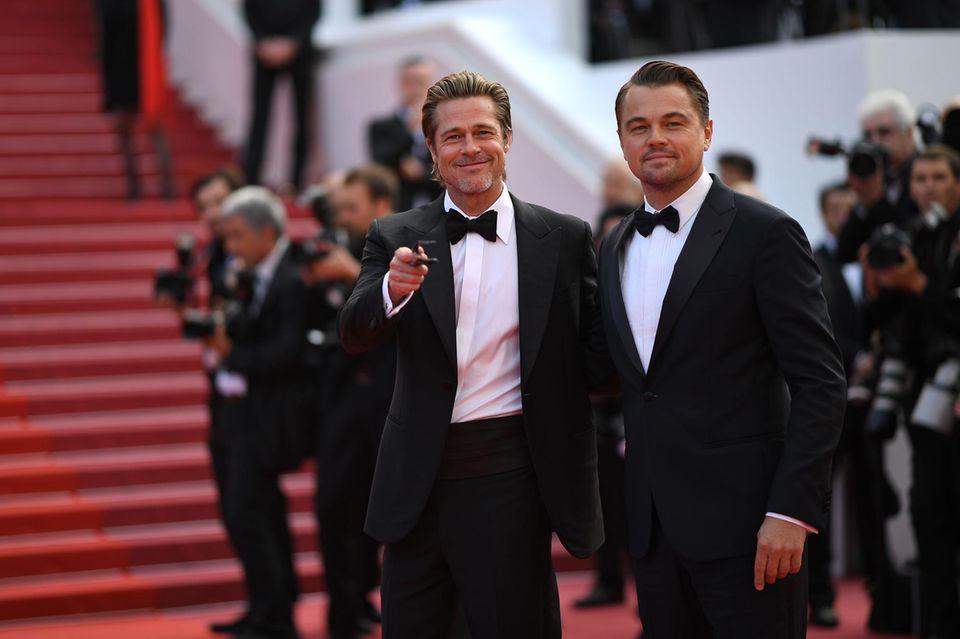 DIE Stars auf dem Roten Teppich: Brad Pitt und Leonardo DiCaprio lassen die Frauenherzen in Cannes höherschlagen.