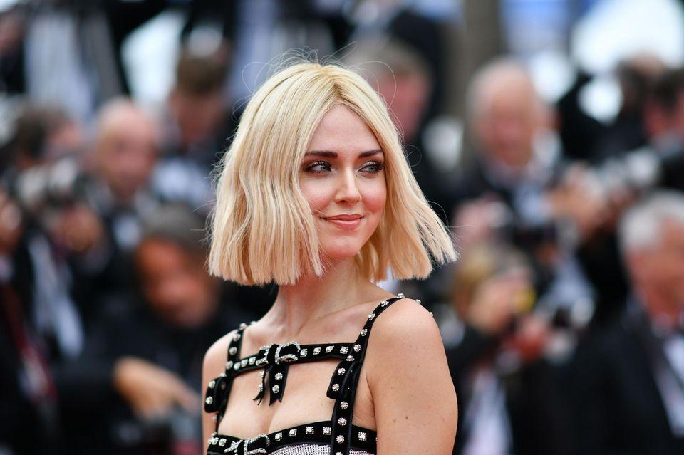 Chiara Ferragni überrascht mit einer neuen Frisur.