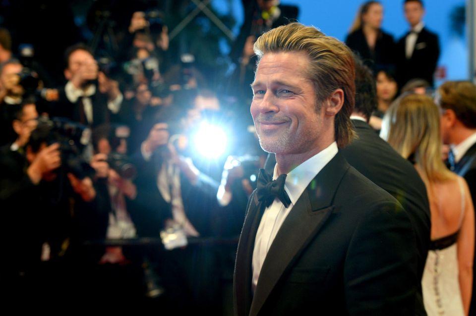 Brad Pitt scheint sich in Cannes gut zu amüsieren.