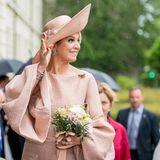 22. Mai 2019  Königin Máxima freut sich über die herzliche Begrüßung in Potsdam.