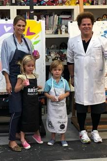 21. Mai 2019  Prinzessin Madeleine und ihre Kinder Leonore und Nicolas verbringen einen kreativenNachmittag mit dem KünstlerRomero Britto in Miami.