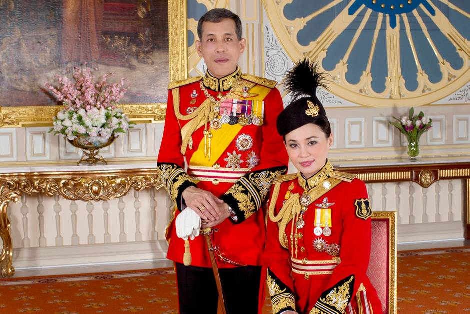 König Maha Vajiralongkorn und Königin Suthida Tidjai