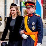 4. Mai 2019  Nach der Trauerfeier für den verstorbenen Großherzog Jean von Luxemburg verlassen Stéphanie und Guillaume die Kirche.