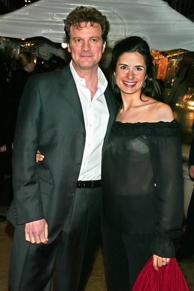 """Colin Firth undLivia Giuggioli  Während Colin Firth in seiner Rolle als Mark Darcy in den Kultfilmen """"Bridget Jones"""" lange nach der Richtigen sucht, hat er seine große Liebe im wahren Leben schon längst gefunden: Der Schauspieler ist seit 1997 mit deritalienischen FilmproduzentinLivia Giuggioli verheiratet, die beiden haben zwei gemeinsame Kinder. Auch Giuggiolis Affäre mit einem italienischen Journalisten konnte das Traumpaar nicht auseinander bringen - sie hat ihre Ehenur noch stärker gemacht."""