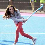 Herzogin Catherine ist ein echter Hockey-Crack, schon während ihres Studium spielte die in der Uni-Mannschaft.