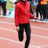 Und Laufen kann Herzogin Catherine auch wie ein Blitz.
