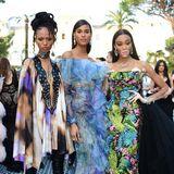 Gleich drei Schönheiten in exotischen Looks:Adesuwa Aighewi, Cindy Bruna und Winnie Harlow