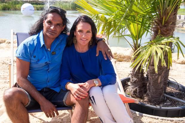 José Campos wollte sich die Veränderung seiner Lebensgefährtin Christine Neubauer persönlich angucken.
