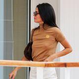 Kendall Jenner auf dem Weg zum Lunch insEden Roc Hotel in Antibes, am Rande der 72. Internationalen Filmfestspiele von Cannes. Das Modell ist bekannt für seine freizügigen Auftritte auf dem Red Carpet und auch privat scheint sie gerne auf zu viel Kleidung zu verzichten.
