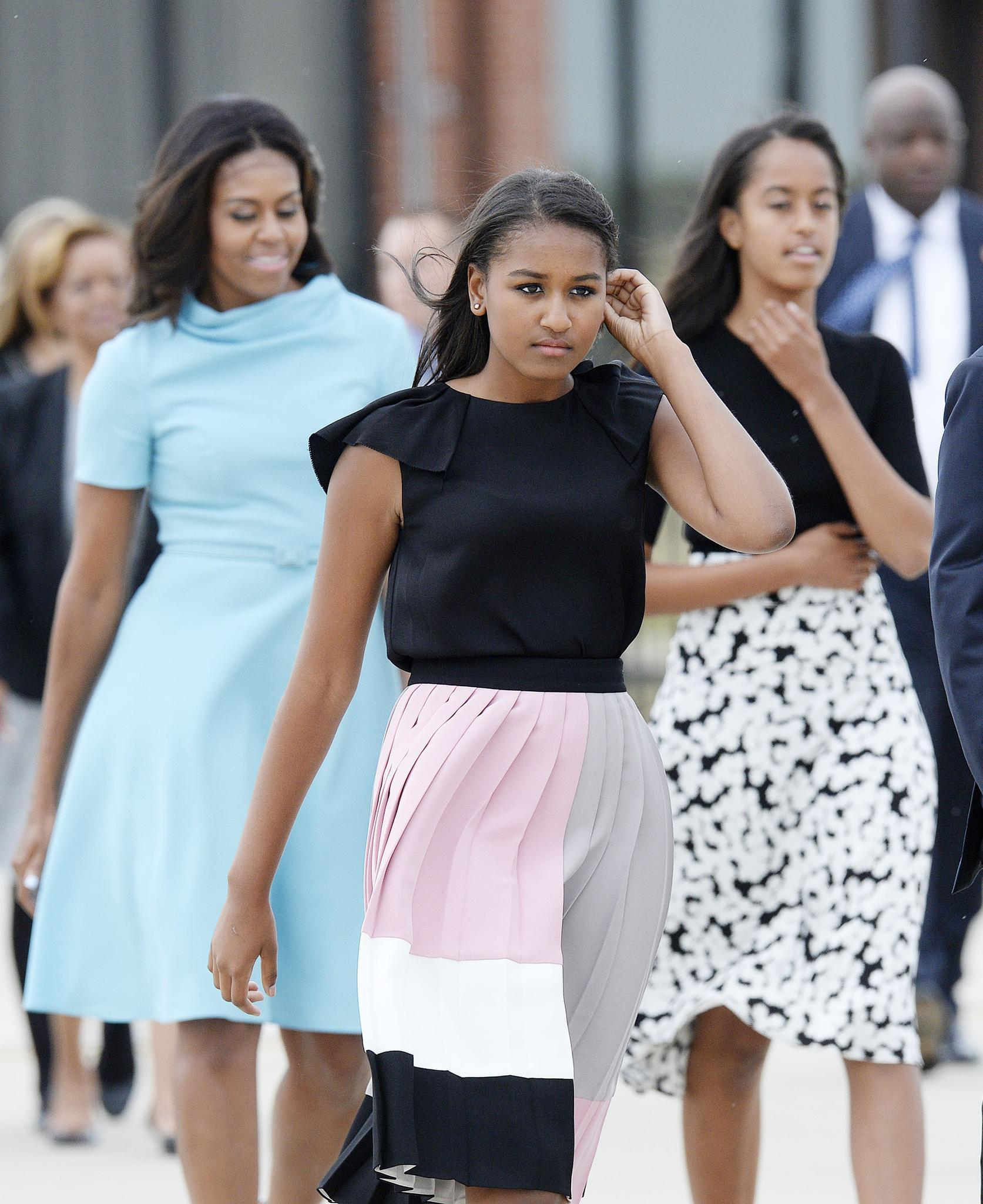 Sasha Obama, Michelle Obama, Malia Obama