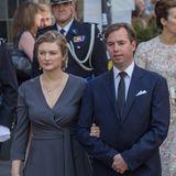 26. Mai 2019  Neben anderen Mitgliedern des luxemburgischen Hofs nehmen auch Stéphanie und Guillaume an der Prozession zum Abschluss der Muttergottesoktav teil.