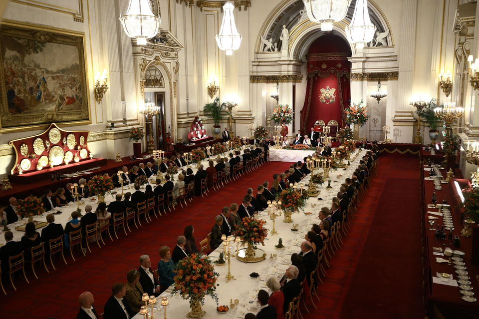Staatsbankett im Buckingham Palast