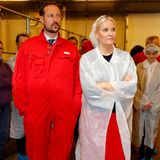 Prinz Haakon und Prinzessin Mette-Marit besuchen die staatliche Universität für Umwelt- und Biowissenschaften naheOslo.