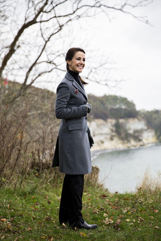Prinzessin Marie besucht Stevns Klint. Die Steilküste im Südosten der dänischen Ostseeinsel Seeland bekommt von der Unesco im Jahr 2014 den Status eines Weltnaturerbes.