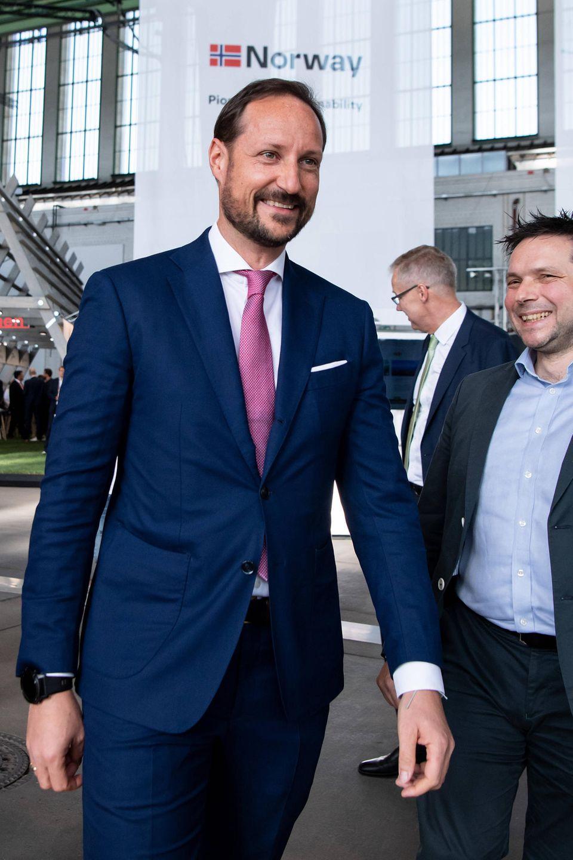 Kronprinz Haakon eröffnet das Greentech Festival in Berlin.