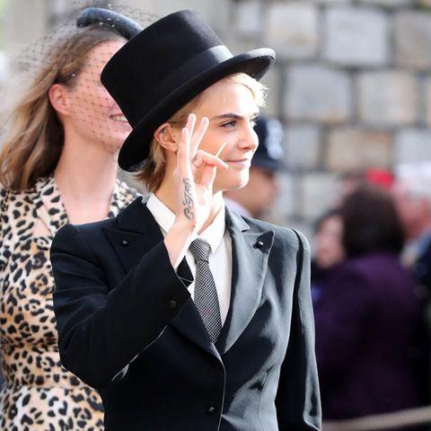 Schwarzer Anzug, Hochzeit, Cara Delevingne