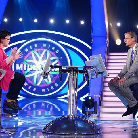 Kandidatin Ellen Marquardt mit Moderator Günther Jauch