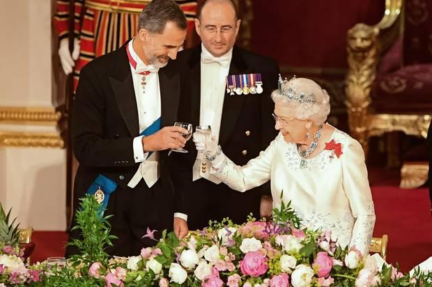 König Felipe von Spanien und Queen Elizabeth