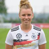 Linda Dallmann   Position: Mittelfeld/Sturm  Verein: SGS Essen  Beruf: Studium Sportwissenschaft