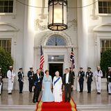 Prinz Philip, Laura Bush, Queen Elizabeth, George W. Bush