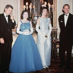 John F. Kennedy, Queen Elizabeth, Jacky Kennedy, Prinz Philip