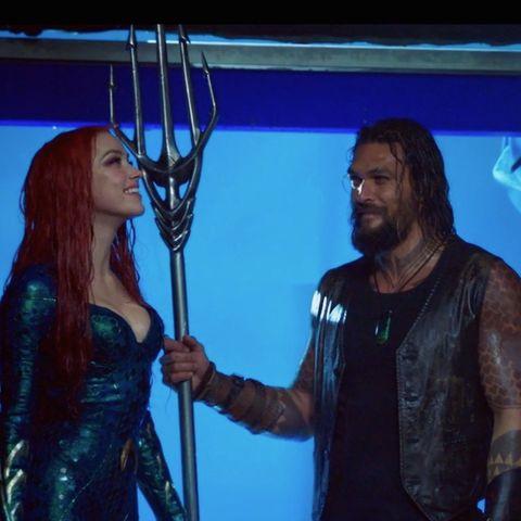 """Amber Heard als """"Mera"""" und Jason Momoa als """"Aquaman"""" merkten beim Dreh, dass es einfach passt"""