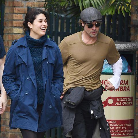 Brad Pitt mit unbekannter Frau in Venedig