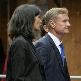 Nach den Fans kommen die prominenten Trauergäste: Der ehemalige britische Formel-1-Fahrer David Coulthard ist angereist.