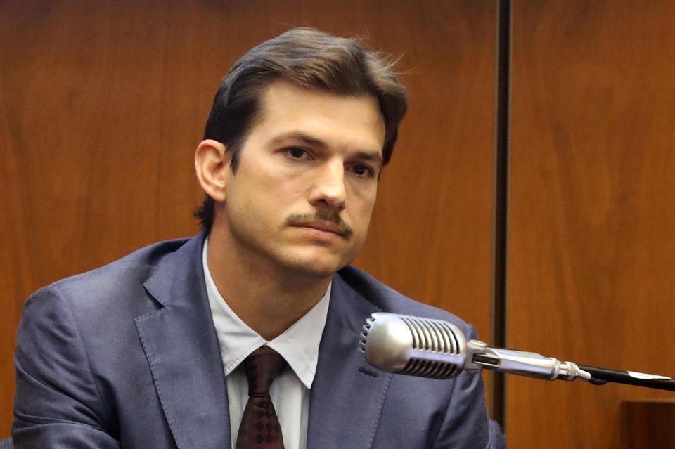 Ashton Kutcher bei seiner Aussage vor Gerichtam 29. Mai
