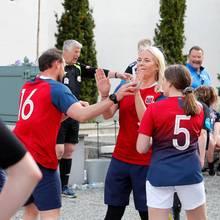 29. Mai 2019  Klatsch ein! Prinz Haakon von Norwegen und seine Familie geben während des Spielsalles.